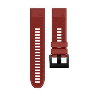 Correa Wearable4u Garmin Fenix 5 22mm Silicona -rojo