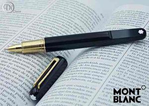 Pluma Montblanc Rollerball M Ultra Black Clip Oro King