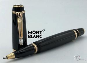 Pluma Rollerball Montblanc Boheme Negro Oro /cristal Blanco