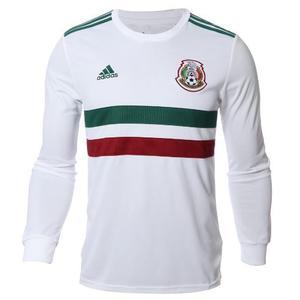 Jersey Mexico Blanca Manga Larga Seleccion Mexicana Tricolor