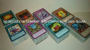 Promocion 3x2 Yu-gi-ho Paquetes C/100 Cartas Comunes Al Azar