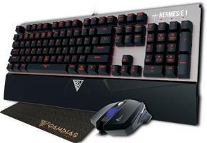 Teclado Mecanico Gamdias Hermes 1 + Mouse + Pad Gamer