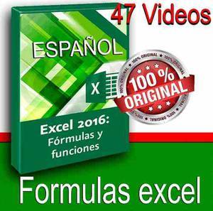 Video Tutorial Excel  Fórmulas Y Funciones Español