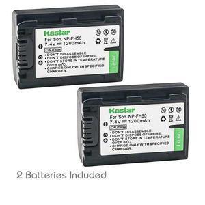 2 Baterías Sony Np-fh50 Npfh50 Fh30 Fh70 Fh100, Envío