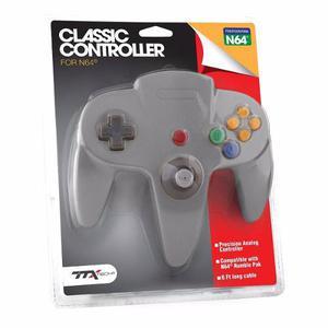 Control Para Nintendo 64 N64 Nuevo De Paquete Ttx Tech Gris