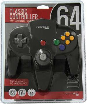 Control Retro-link Nintendo 64 Usb Alámbrico -negro