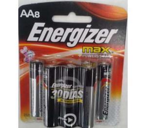 Pila Energizer Max Alcalina Aa Con 8 Piezas