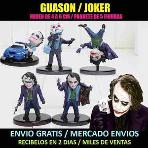 Guason-joker-batman-set 5 Figuras-comic-dc-dark Knight-suici