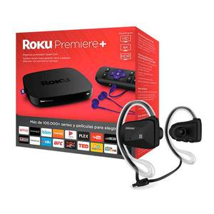 Kit Roku Premiere+ & Audifonos Bluetooth Sport Negro Jabees