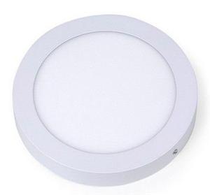 Lampara De Sobreponer Plafon Redondo Led 12w Blanco Frio