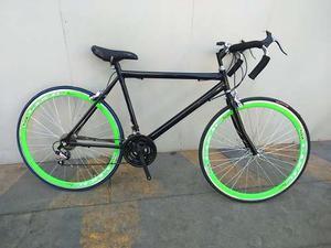 Bicicleta De Ruta Nueva 21 Vel Rod 700x23 Rin 40mm C/pedales