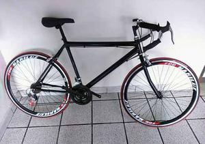 Bicicleta De Ruta Nueva 24 Vel Rod 700x23 Rin 40mm C/pedales