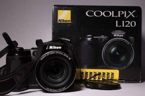Cámara Nikon Coolpix L120 Fotografías 14.1 Mp. Videos Hd