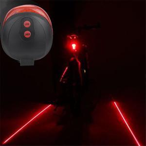 Luz Trasera Bicicleta 2 Láser Segiridad Alvertencia Noche