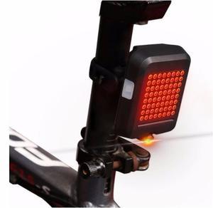 Luz Trasera Bicicleta Direccionales Panel 64 Led Recargable