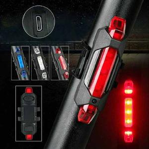 Luz Trasera Bicicleta Seguridad Recargable Usb