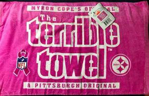 Pittsburgh Steelers Terrible Towel Pink Official Myron C.