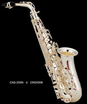 Saxofon Alto Niquelado Eb Century Cnsx006 Confirma Existen *