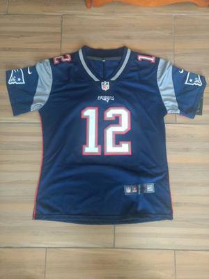Tom Brady New England Patriots Jersey Talla L De Mujer Azul