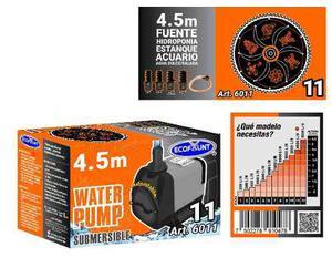 Bomba De Agua Sumergible Acuarios Fuentes 4.50 M