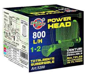 Cabeza De Poder 800 L/h Sumergible Acuarios  Litro
