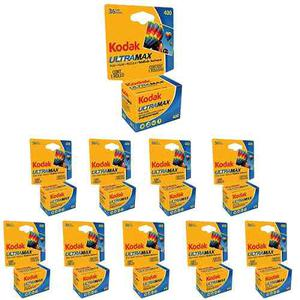 10 Rollos Kodak Ultra Max Gc  - Película De 35 Mm