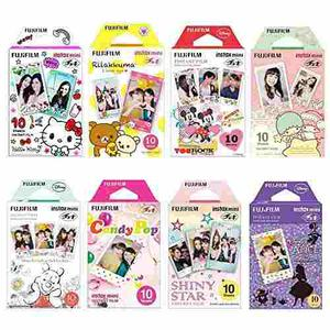 Fujifilm Instax Mini Film 8 Pack Bundle Hello Kitty, Disney