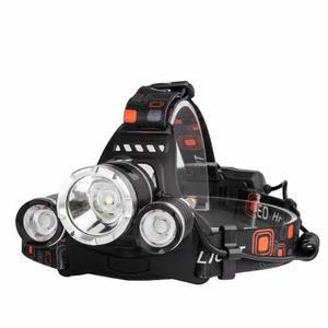 Lámpara Linterna Minera Cabeza Luz Led Campismo Recargable