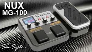 Mg-100 Nux Pedalera Multiefectos De 58 Efectos Para Guitarra