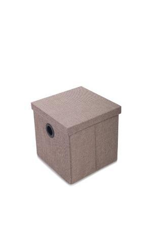 Caja Organizadora Klau Beige Mediana 30x30x30 Cms Casamia