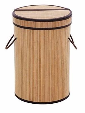 Cesto Para Ropa Sucia De Madera De Bambú Mide 61 X 38.5 Cm