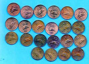 Coleccion Antigua Pirámide 20 Centavos 22 Piezas A1 56 E