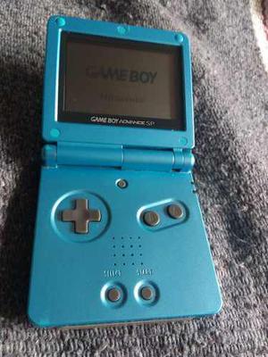 Game Boy Advance Sp Azul Nintendo Sin Luz