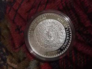 Medalla Piedra De Los Soles 1 Onza De Plata