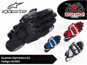 Guantes De Piel Alpinestars Modelo S1 Pista, Envio Gratis