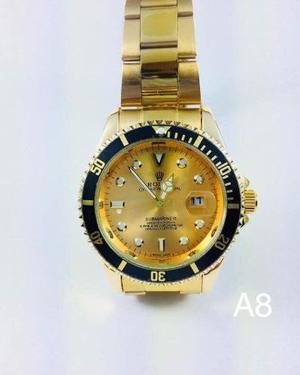 Reloj De Lujo Tip. Rolex Varios Modelos Caballero Moda