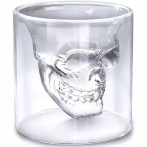 Set De 4 Shots Vasos De Cristal Calavera Doomed Craneo H