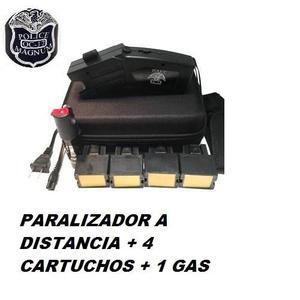 Stun Gun Paralizador Police Oc- Mil V Con 4 Cartuchos