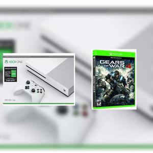 Xbox One S 500 Gb Reacondiconada + Gold 3 Meses + Gears 4