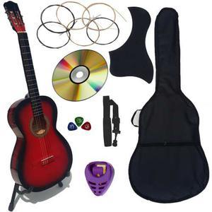 Guitarra Acustica Nuevo Paquete Completo De Accesorios