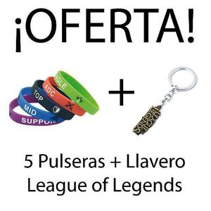 Oferta 5 Pulseras + Llavero League Of Legends!