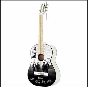 Paquete Guitarra Acústica The Beatles Blanca