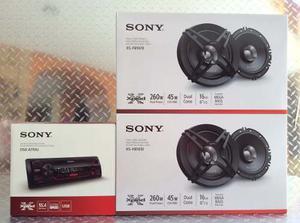 Auto Estéreo Sony Dsx-a110u Usb Con 4 Bocinas 6.5 Pulgadas