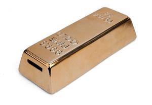 Kikkerland Juegos Alcancia Con Forma De Lingote De Oro