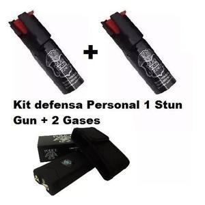 Paquete Stun Gun Taser Paralizador Police + 2 Gases