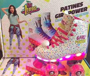 Patines Soy Luna Led Edicion Especial Girl Power Con Luces