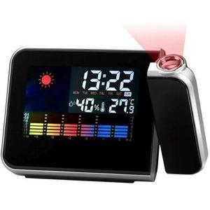 Reloj Despertador Con Proyector Laser De La Hora H
