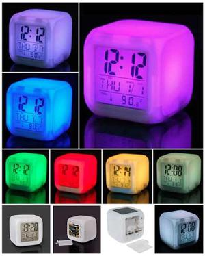 Reloj Despertador Digital Led 7 Colores Envio Gratis