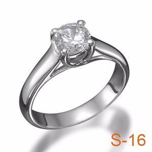 Anillo Compromiso Diamante Natural.40ct (puntos) Oro 18 Kt.
