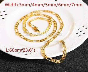 Collar Cadena De Oro 14k Laminado 3mm Unisex.